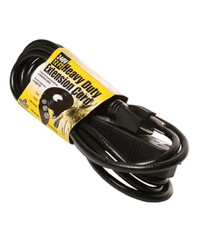 12' Heavy Duty Extension Cord, 240v, 3 outlet